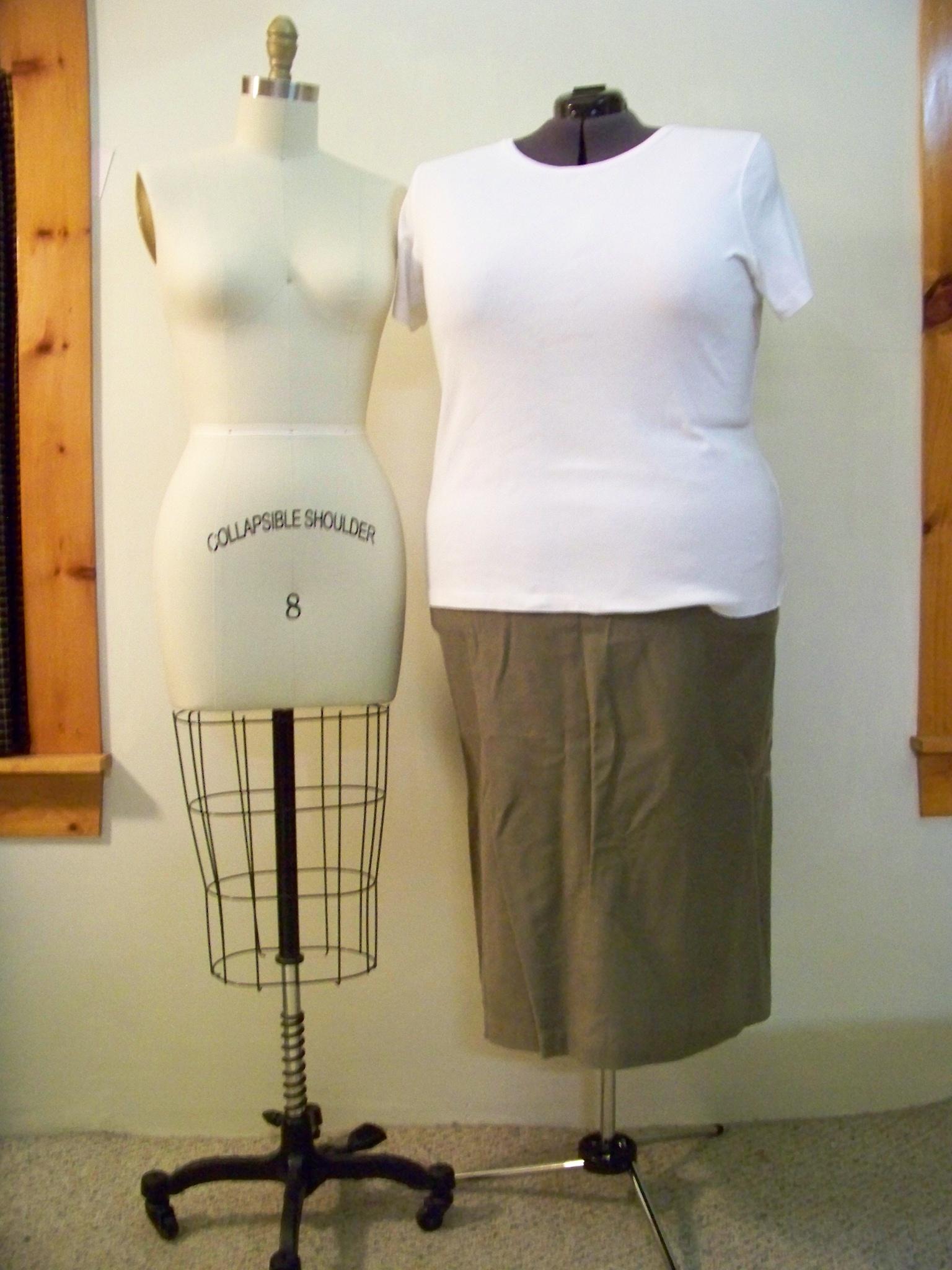 Clara, maybe Bea, our plus size apron dress form - Susannah Allen