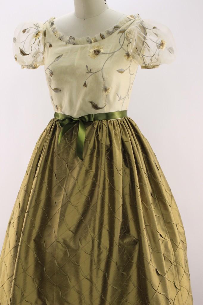 Golden Leaf Gown Front